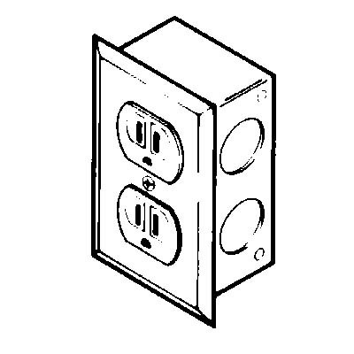 duplex electrical receptacle kit for basic laboratory hoods