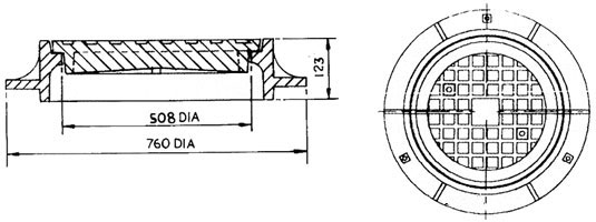 Manhole Cover Drawings Cast Iron