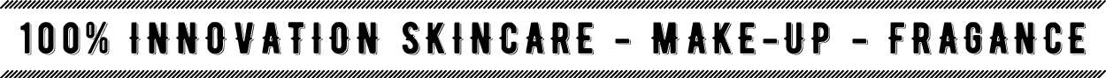 100% innovation skincare, make-up, fragance