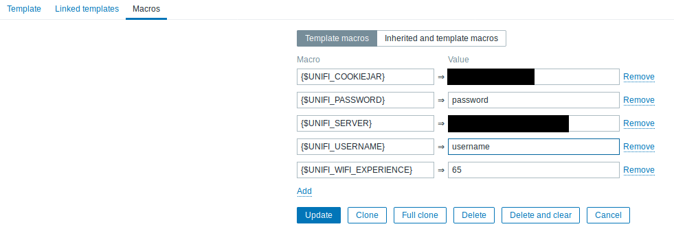 Monitor UniFi Controller values using Zabbix Server and
