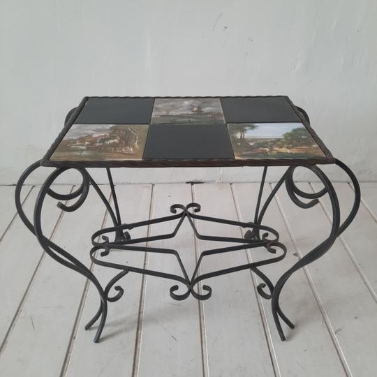 table basse en fer forge