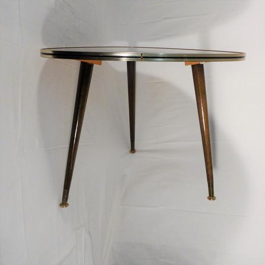 table vintage tripode en formica dessin japonais