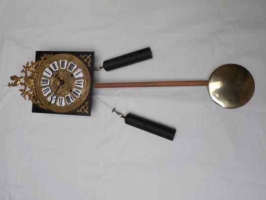 Mouvement Et Horloge Comtoise Ancienne A Balancier Label Emmaus