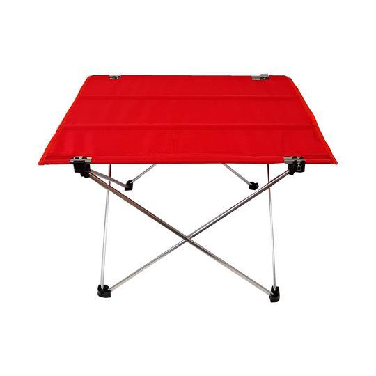 Neuf Etiquette Mini Table Pliante Rouge Monoprix 57 Cm Label Emmaus