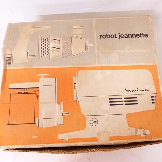 robot jeannette moulinex de 1968 dans sa boite d origine