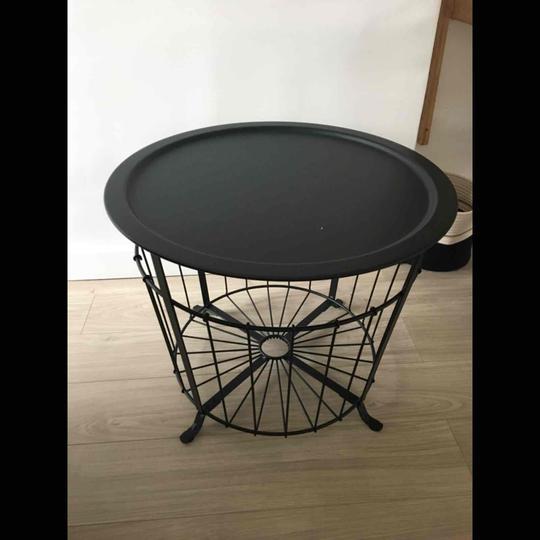 Table Basse Ronde En Fer Forge Noir 60x60 Ikea Label Emmaus