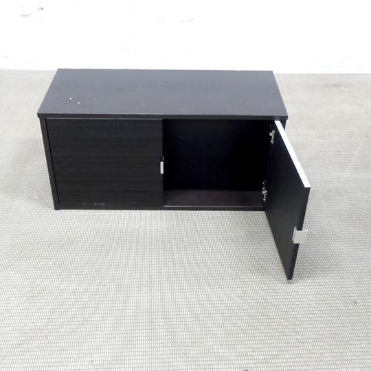 meuble rangement murale ikea en melamine 85x36x42cm noir