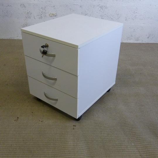 caisson ikea en bois 50x42x52cm blanc et gris