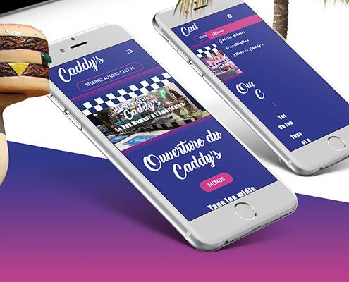 Création du site internet du Caddy's - Agence web - Label Site Nantes