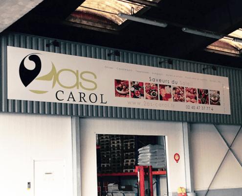 Panneau Dibond Enseigne 2AS Carol