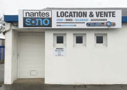 Création et pose de panneau dibond pour Nantes Sono