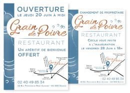 Emailings pour promouvoir le restaurant Le Grain de Poivre à Nantes