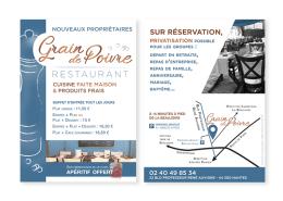 Création de Flyer format A5 pour promouvoir le restaurant à Nantes