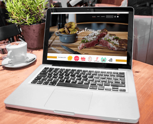 Nouveau site internet pour le restaurant Chez Franklin by Label Communication