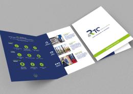 Communication globale - Réalisation d'une plaquette commerciale par Label communication pour RTC services