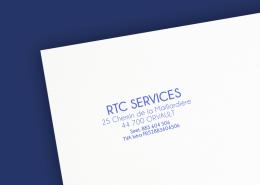 Création du tampon commercial par Label communication pour RTC services