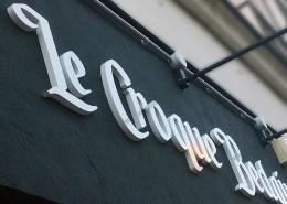 Enseigne en lettres découpées PMMA du restaurant Le Croque Bedaine à Nantes (44)