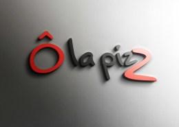 Création communication globale : logo pizzeria - Ô la Pizz