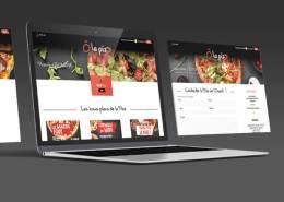 Création site vitrine pour le restaurant pizzeria Ô la pizZ