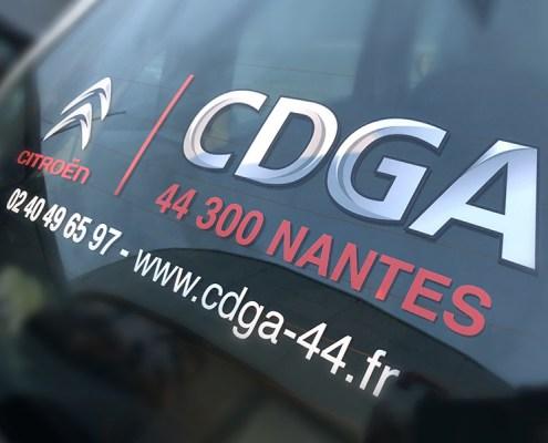 Marquage véhicule de courtoisie Citroën CDGA Nantes