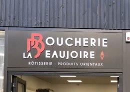 Enseigne Boucherie La Beaujoire - Nantes - Label Communication