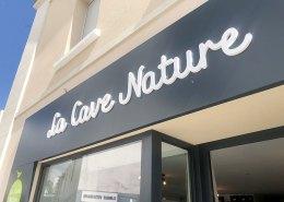 Enseigne lettres découpés PMMA cave à vin - La Cave Nature - Bouguenais - Label Communication
