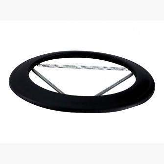 rosace emaillee noir mat o 150 mm poujoulat 56150970