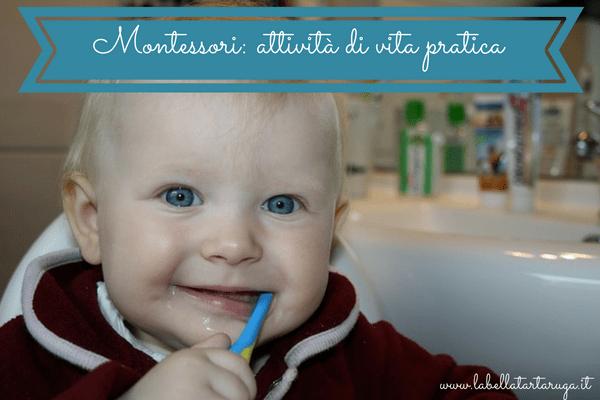 Montessori attività di vita pratica
