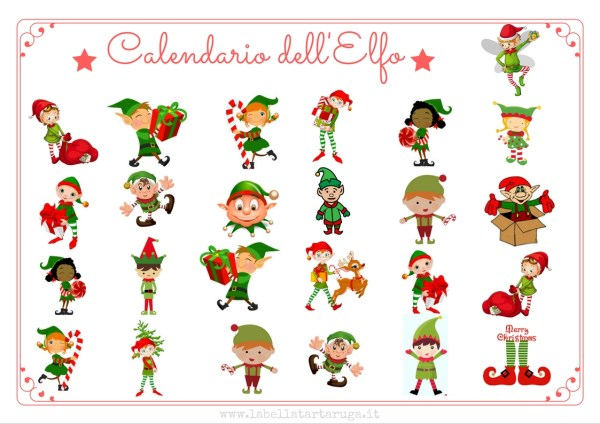 calendario avvento elfo