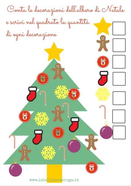 Attività Per Bambini L Albero Di Natale E Santa Lucia La