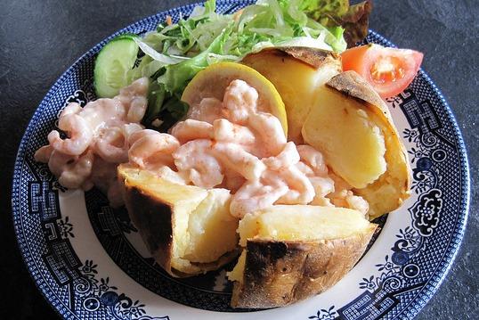 jacket potatoes gamberetti