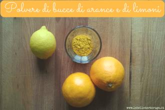 polvere di bucce di arance e limoni