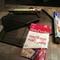 Plaques à cuisson et papier parchemin