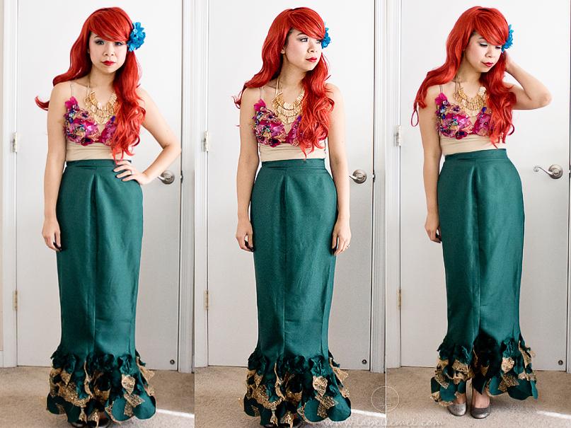 Disney Halloween Tutorial Ariel With DIY Mermaid Costume