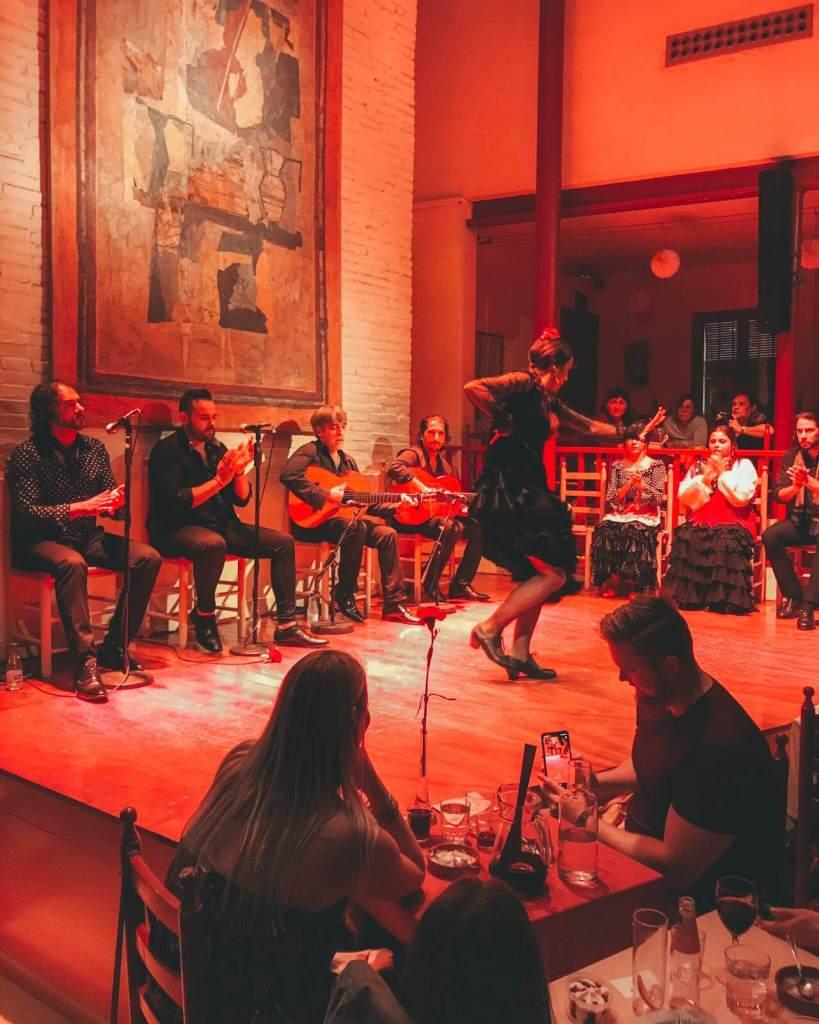 authentic flamenco in Barcelona Spain at Table de Carmen