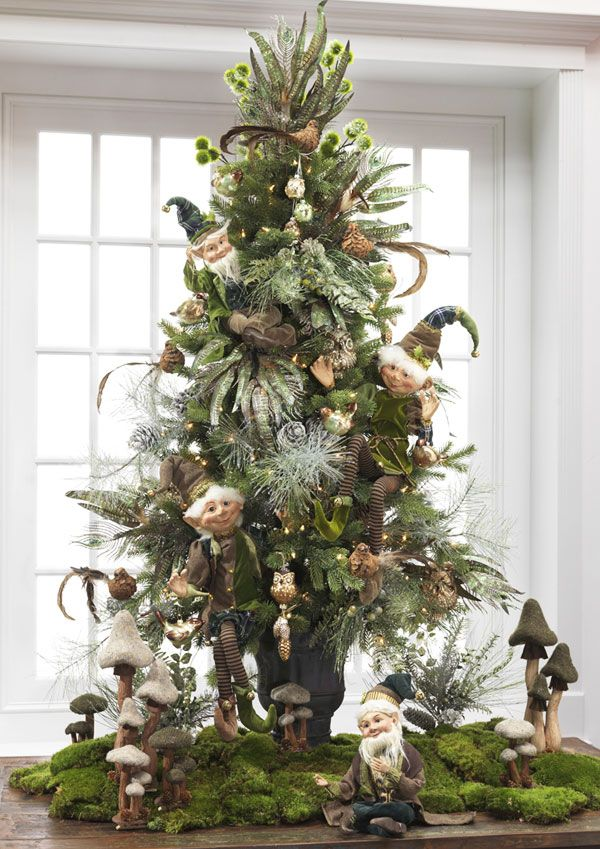 A Christmas Tree Filled with Cute Elves | Want ideas for unique Christmas trees for the 2020 holiday season? Find inspiration ideas for your Christmas tree decoration from creative and unique xmas trees. From white, upside down, best Christmas trees on wall, pink Christmas trees, and even Disney Christmas tree decorations. From big and small unique Christmas tree ideas. Perfect for kids and for the holidays. #uniquechristmastree #christmastreeideas #christmastreeideas #christmas
