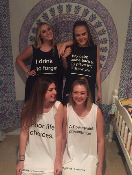 Creative Halloween Group Costume: Cards Against Humanity | The best group Halloween costumes for girls