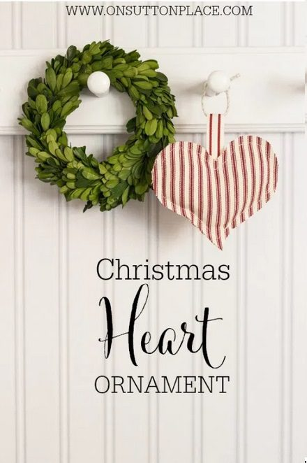 Heart Christmas Ornament | Want to make Christmas tree decorations yourself this year? Find the most creative DIY Christmas tree ornaments ideas. Get inspired by rustic Christmas tree decorations, Xmas ornaments DIY easy for kids and all the cutest homemade Christmas tree decor found on Pinterest. Perfect for children and for the end of year holiday season at home. #christmastreeornaments #christmasdiy #christmastreeideas #diychristmasdecor