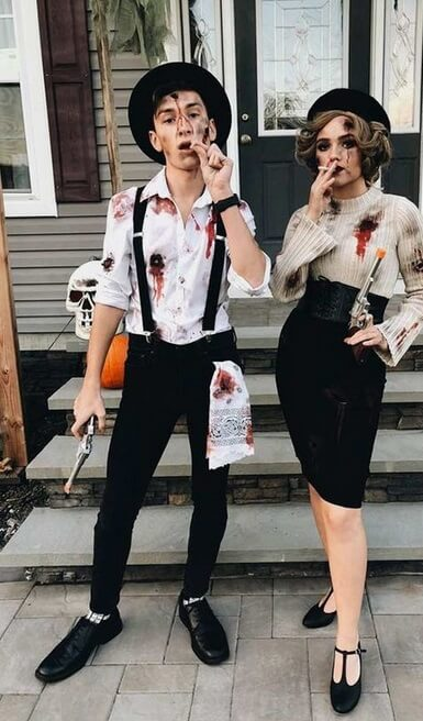 Bonnie and Clyde Inspired Costumes | Looking for iconic couples costume Halloween ideas for 2020? Find the best couples Halloween costume ideas, perfect for matching with your boyfriend. Find hot couples costume ideas, cool Disney characters costumes and the best DIY, funny, and scary couples Halloween costume inspiration. #CouplesCostumeHalloween #couplescostume #halloweencouples #halloween
