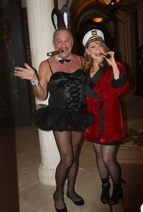 Funny Reversed Hugh Hefner Halloween Costume for Couples | Looking for iconic couples costume Halloween ideas for 2020? Find the best couples Halloween costume ideas, perfect for matching with your boyfriend. Find hot couples costume ideas, cool Disney characters costumes and the best DIY, funny, and scary couples Halloween costume inspiration. #CouplesCostumeHalloween #couplescostume #halloweencouples #halloween