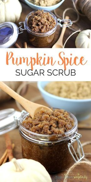 This easy Pumpkin Spice Sugar Scrub is a must make at home DIY for beautiful skin! Not only does it smell amazing, it smooths and exfoliates your skin for pennies. Click to learn the recipe for this easy yet fantastic sugar scrub.