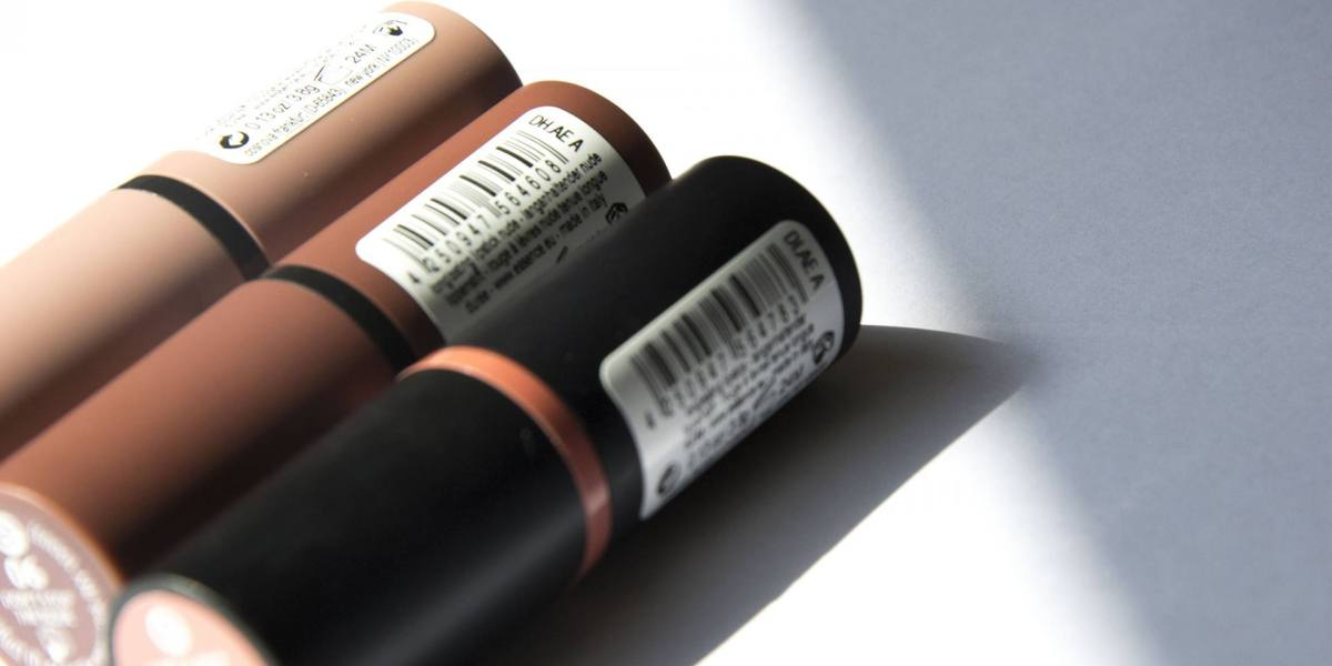 Essence nude lipsticks   Label of Suze