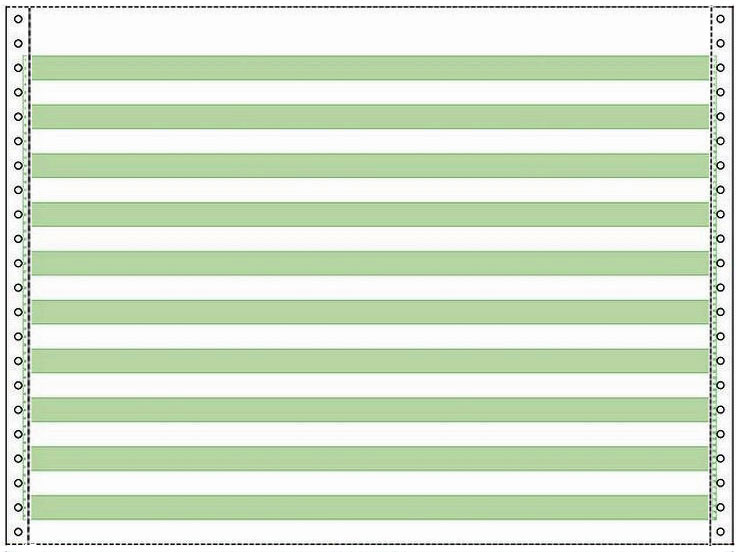 Continuous Paper 14 7 8 X 11 20 1 2 Inch Green Bar 1