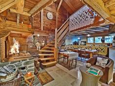 La Bergerie B&B cosy open fireplace traditional wooden chalet in the grand massif