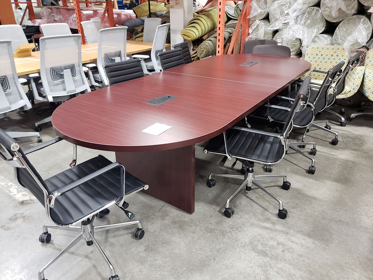Office Source 10 Racetrack Conference Table W Slab Base Laber S Furniture
