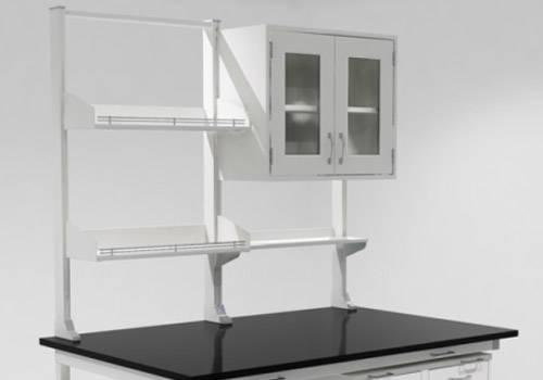 Island Bench Adjustable Height Shelves Lab Furniture