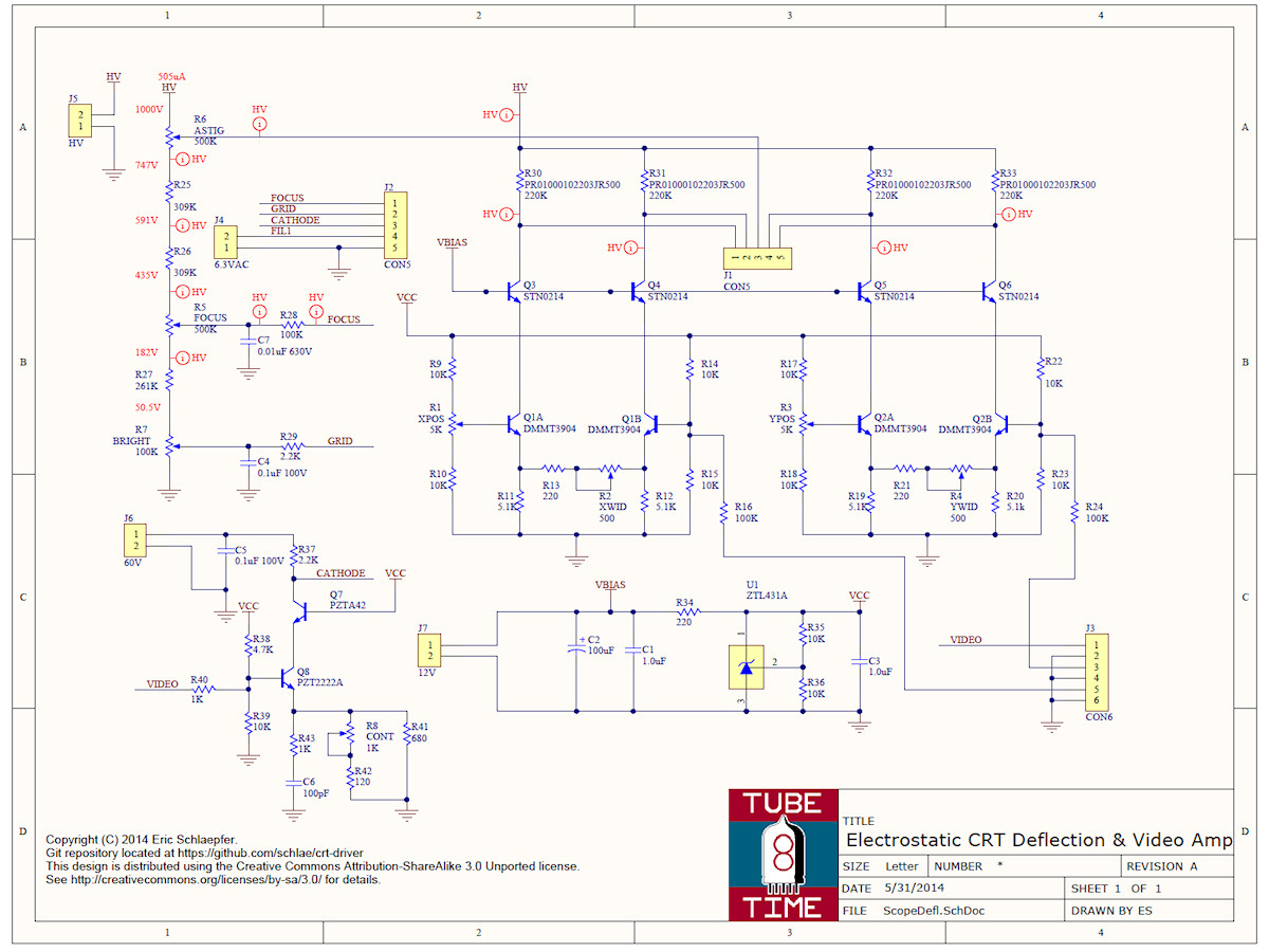 Labguy S World Electrostatic Cathode Ray Tube Project 1