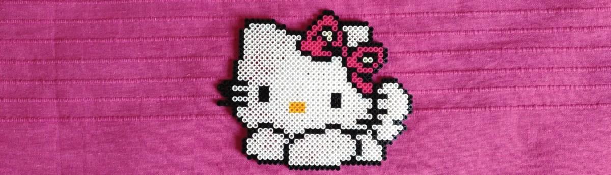 Hello Kitty hama beads