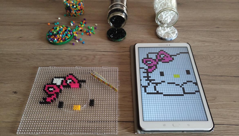 hello kitty hama beads procedimento