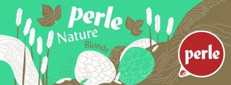 Etiquette de bière Perle Nature